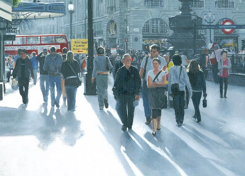 021105 Busy at Piccadilly Circus, london - oil