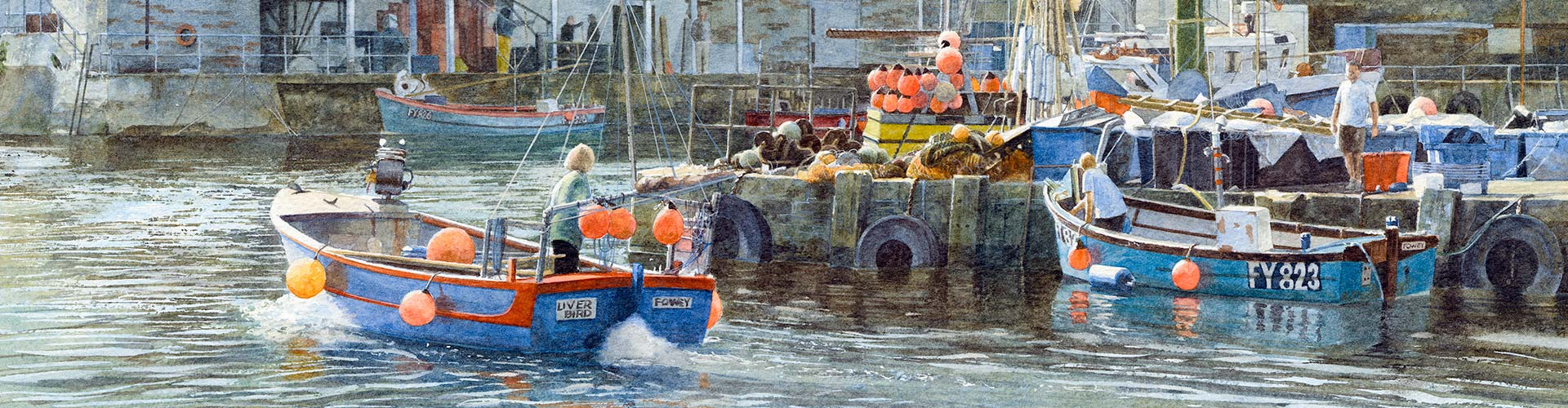 #02238 Mevagissey, Cornwall. Copyright - Alistair Butt RSMA